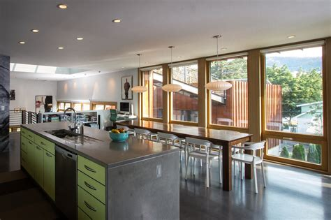 view kitchen designs sustainable house integrates a roof terrace by chris pardo 3148