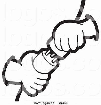 Power Clip Plugs Vector Hands Clipart Plugging