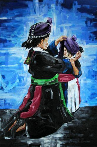 great picture  mom putting hmong clothes   baby girl