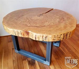 round coffee table live edge industrial tree slice log With round wood slab coffee table