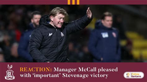 Bradford City AFC - REACTION: Manager McCall pleased with ...