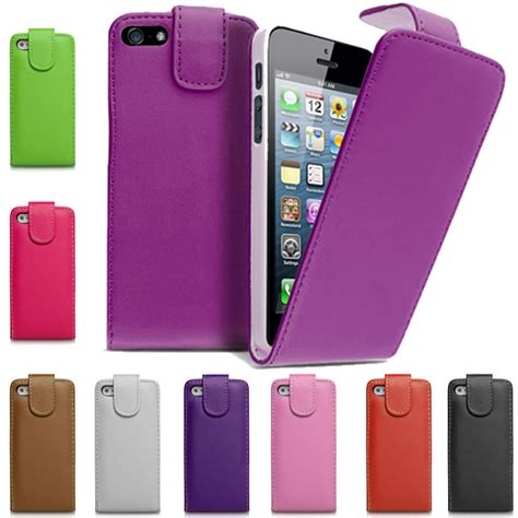 best iphone 4 cases pu leather magnetic closure top flip phone cover for 1735