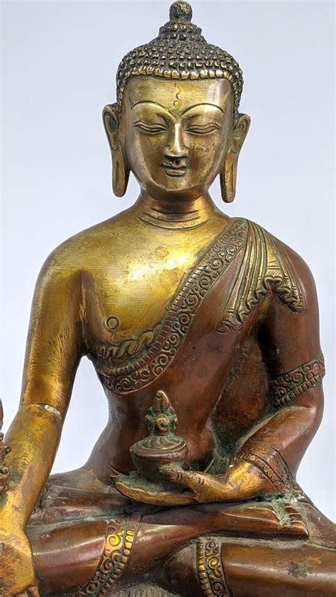11.5 Inch Antique Shakyamuni Buddha Statue Large For Sale ...