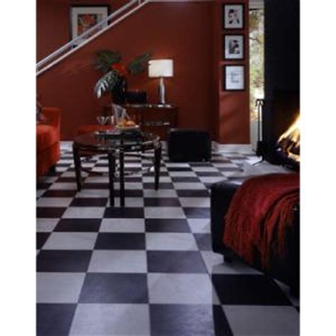 Black and White Chess Slate Laminate Flooring   Better