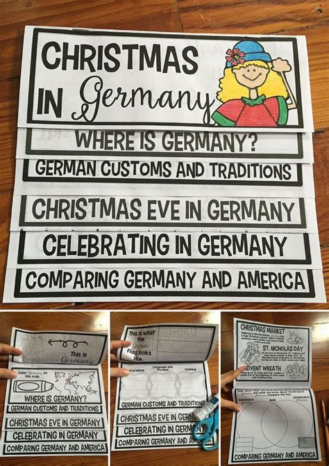 christmas in germany flip up book around the worlds