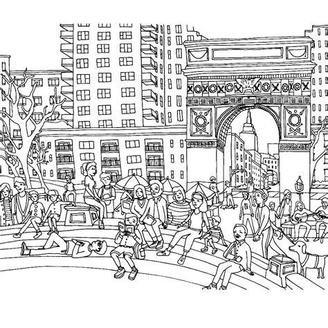 Kleurplaat Mensen Die Praten by Leuk Voor Stadsbeeld Met Mensen