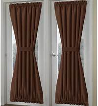 french door curtain panels Solid Brown French Door Curtain Panels