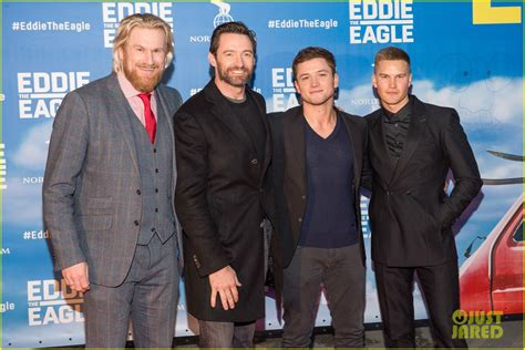 taron egerton swimsuit hugh jackman taron egerton celebrate eddie the eagle