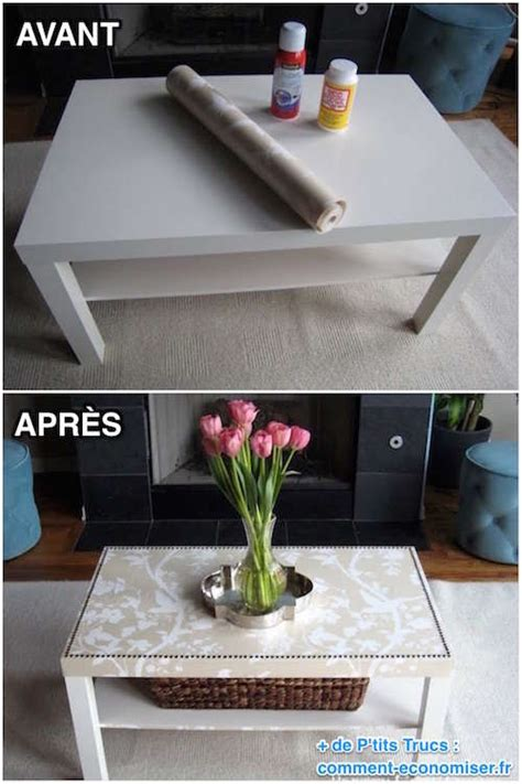 Customiser Une Table Basse Comment Facilement Transformer Une Table Ikea En Meuble Chic