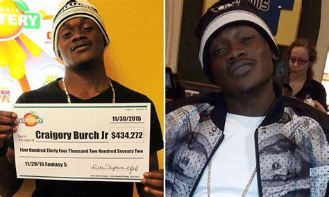lottery winner craigory burch jr  murdered   home