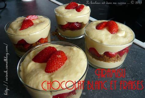 tiramisu chocolat blanc et fraises recette