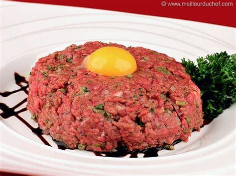 cuisine gibier steak tartare notre recette illustrée pur boeuf haché