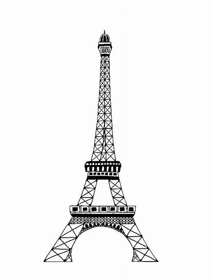 Tower Eiffel Coloring Pages Colouring