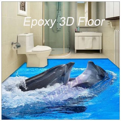 Waterproof Anti slip Epoxy Resin 3d Floor Paint For Home