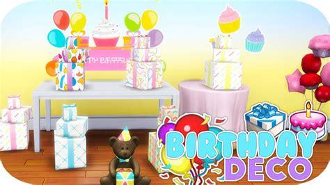 sims  birthday decorations set youtube