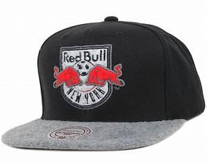 New York Red Bulls Black/Grey Fuzz 2 Tone Snapback ...