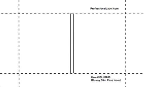 Slim Insert Template by Slim Inserts Inkjet Glossy 50 Sheets Blu1038