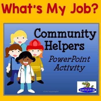 community helpers powerpoint guessing game whats  job