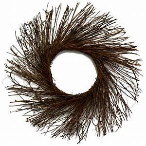 "18"" Natural Twig Wreath [TG1044] - CraftOutlet com"