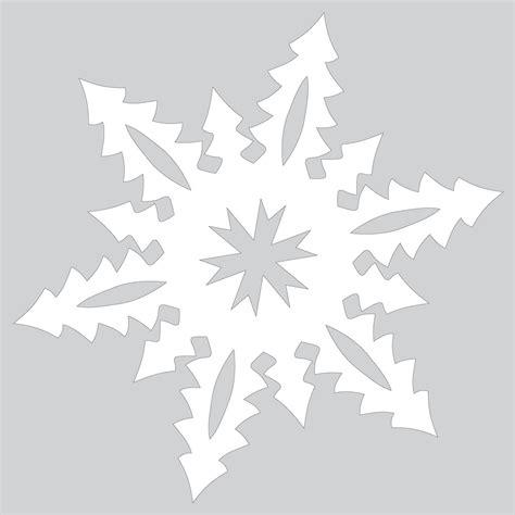 paper snowflake  tall christmas trees pattern cut
