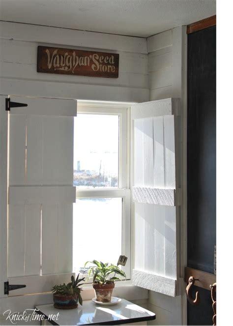 diy farmhouse wooden shutters  repurposed life
