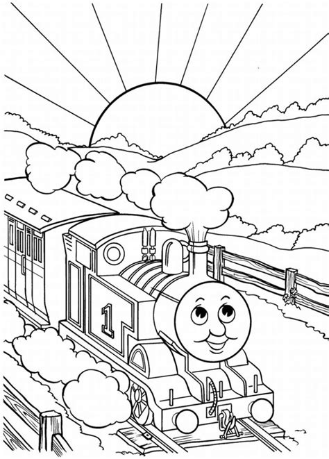 thomas  tank engine coloring pages team colors