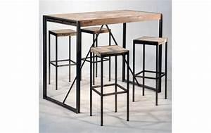 Bar Mange Debout : ensemble complet mange debout fer et de bois de bateau recycl ~ Teatrodelosmanantiales.com Idées de Décoration
