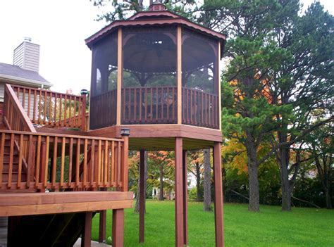 gazebo screen composite decking colors st louis decks screened