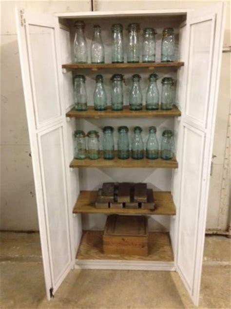 vintage industrial  wooden cupboard pantry cupboard