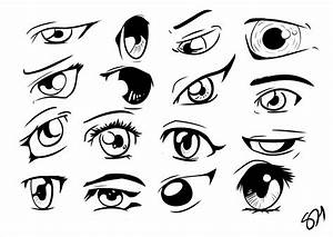 Simple How To Draw Anime Eyes Step By Step For Beginners S ...