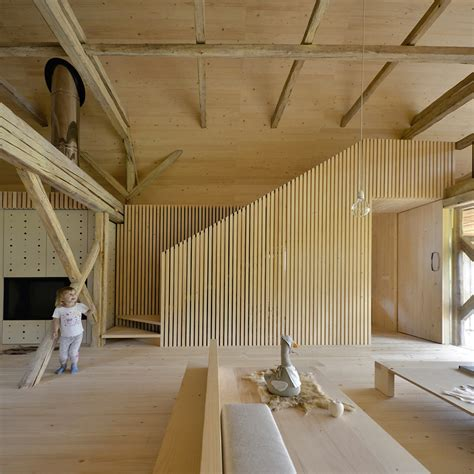 OFIS remodels alpine barn apartment into contemporary loft