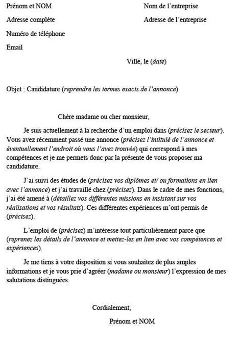 Comment Ecrire Cv Franàçais by Comment 233 Crire Sa Lettre De Motivation Laboite Cv Fr