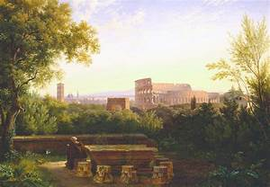 View Of The Colosseum From The Orti Farnesiani Painting by ...