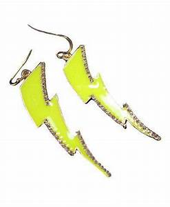 Neon Lightning Strike Earrings with from chicnova