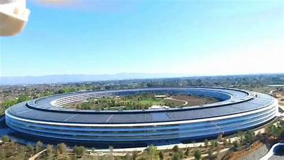 Apple Drone Headquarters Flying Flight Above
