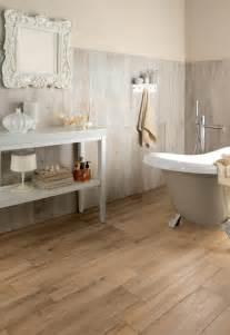 bathroom floor coverings ideas wood look tiles