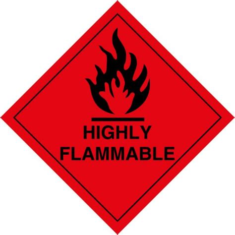 Highly Flammable Labels - from Key Signs UK