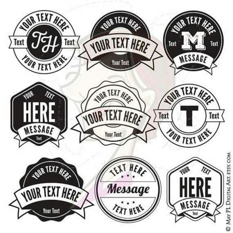 monogram frames download round and hexagon clipart with banners to create that modern logo