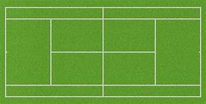 Diagram Of A Tennis Court Labeled