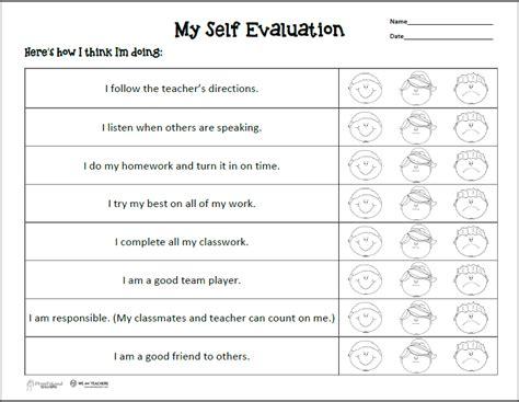 Student Selfevaluation For Parent Teacher Conferences