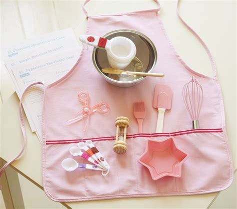 cooking gift gifts chef christmas baking party making cute kits apron foodies mini diy pampered sets baby slideshow aprons potterybarnkids