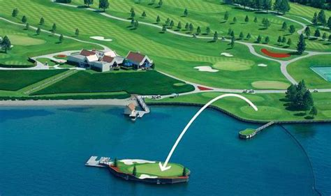 Boat Us Weather Course by Floating Green Boat Lake Coeur D Alene Golf Course World