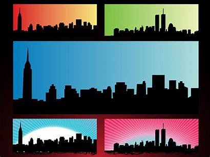 Skyline Clipart York Towers Twin Nyc Silhouette