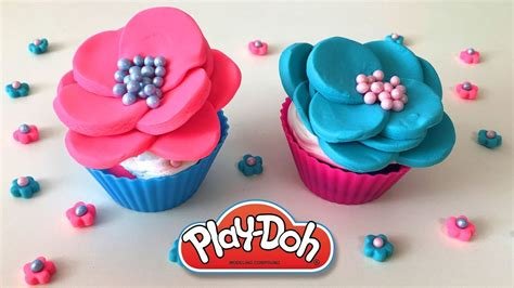 rose cup cake muffin diy play doh recipe    play