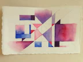 Abstract Shapes Watercolor by Geometric Abstract Purple Pink And Blue World