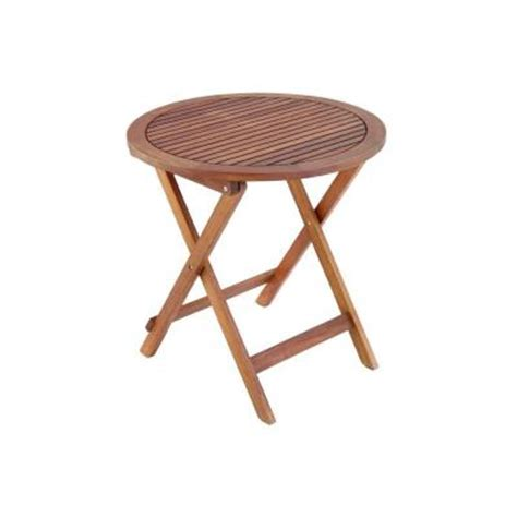 folding wood table home depot 28 in round folding wooden patio table discontinued