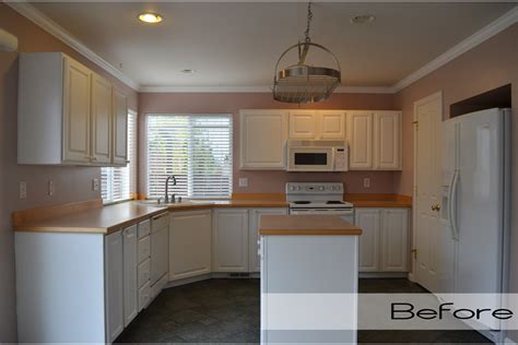 Kitchen Before And After by Before After Kitchen Walls And Floors Live Laugh Learn