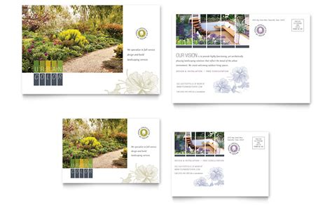 urban landscaping postcard template word publisher