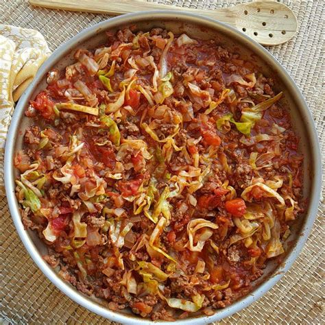 groundbeef recipe cabbage and ground beef skillet