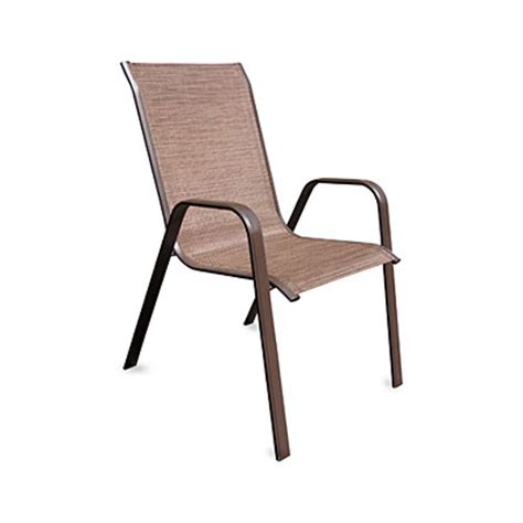 wilson fisher 174 brown sanibel sling stacking chair big lots